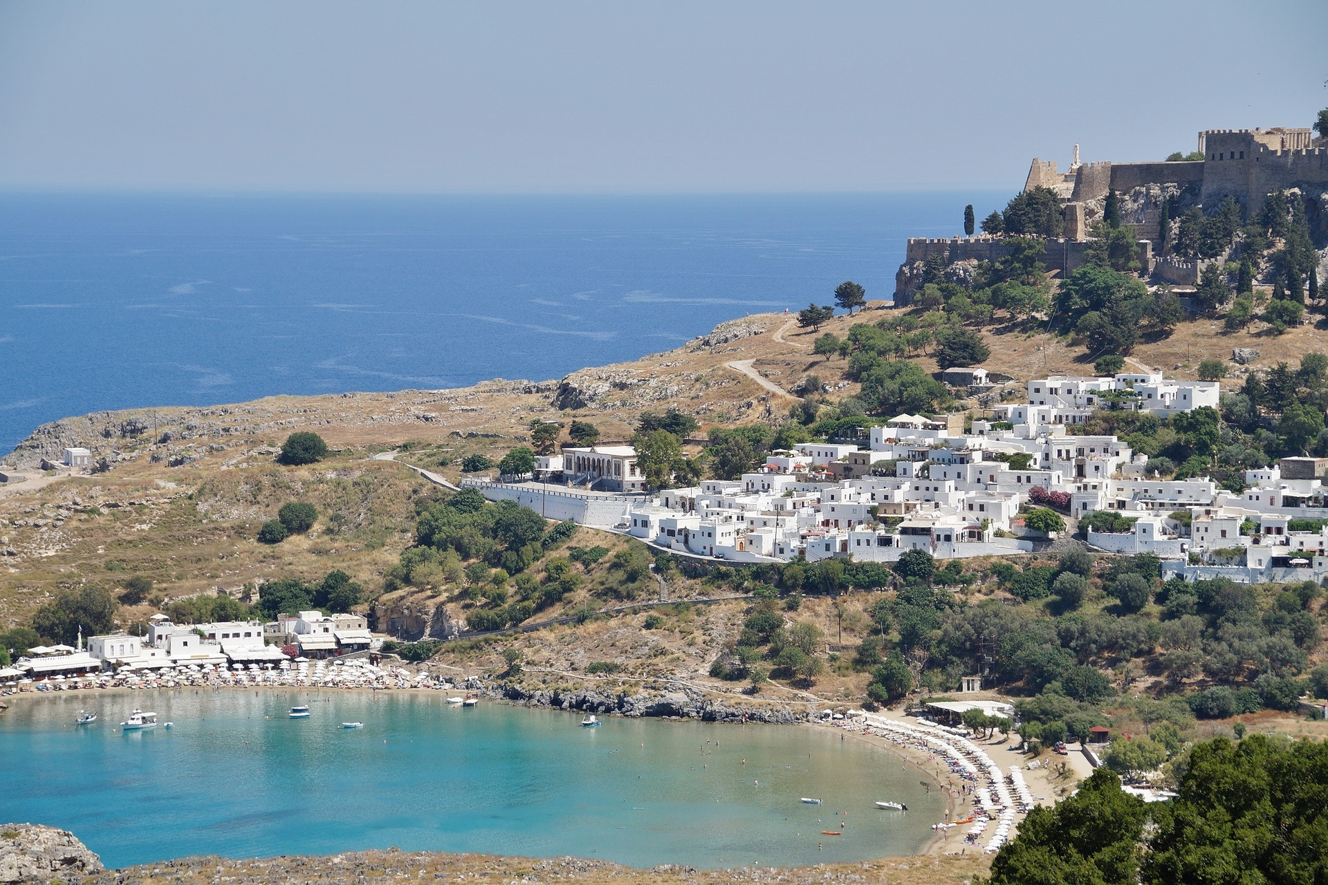 St. Paul's Bay on the Island of Rhodes